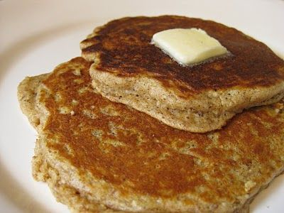 Harvest Grain and Nut Pancakes. If it's healthy and my hubby loves it... you know it MUST be good. :) We love these ~Hope