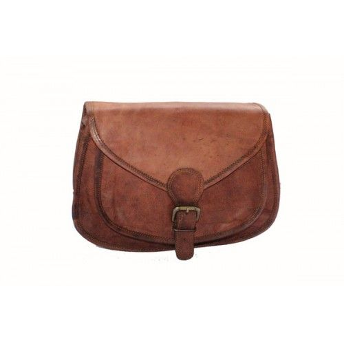 Fine leather cross-body bag