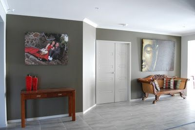 Aaron and Erin's Henley Home: the feature walls...