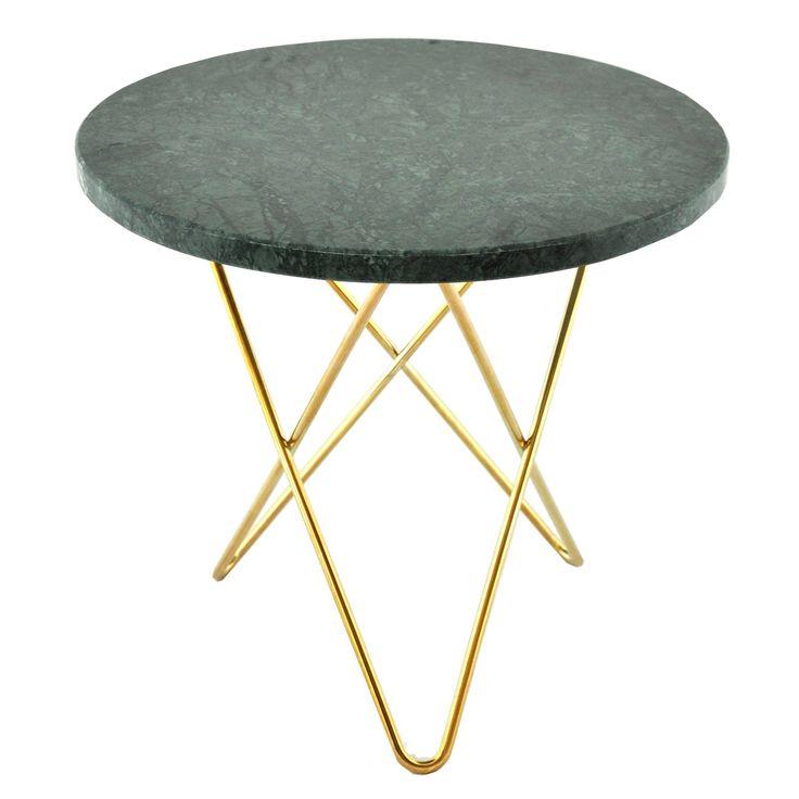 Mini O sidebord, grønn marmor/messing i gruppen Møbler / Bord / Sidebord & Småbord hos ROOM21.no (130017)