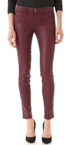 J Brand Coated 811 Mid Rise Skinny Jeans | SHOPBOP