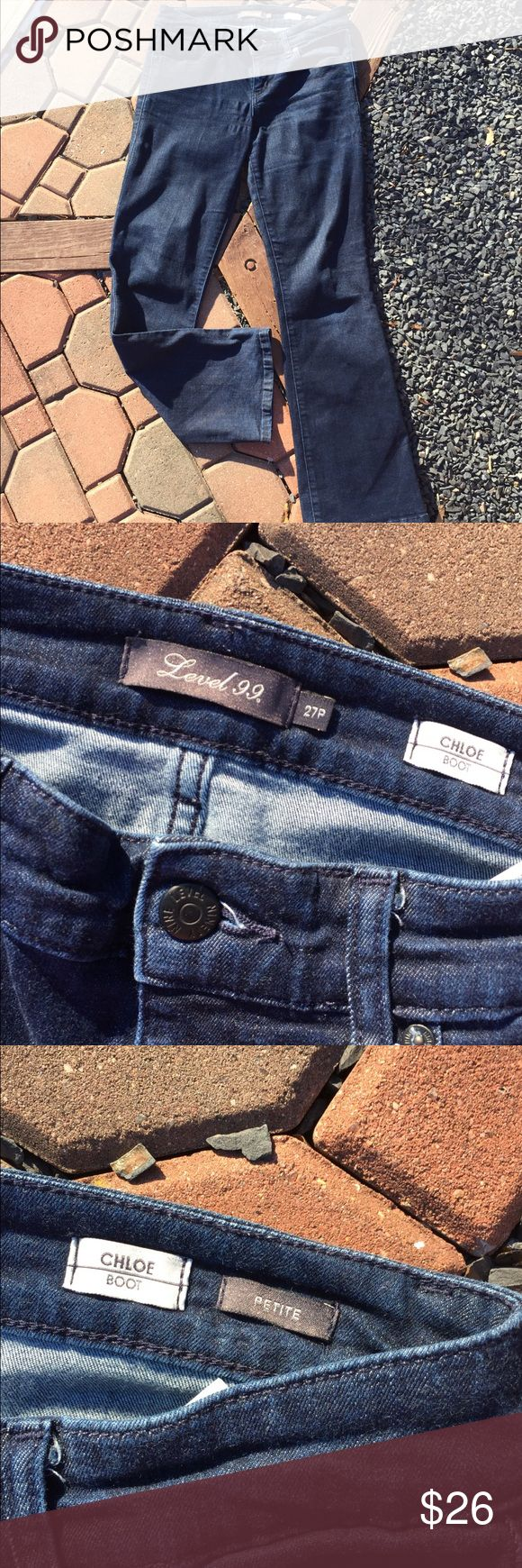 """Anthropologie Level 99 Chloe Bootcut Jeans 27 P Size 27 Petite. Waist flat: 14.5"""". Front Rise: 8"""". Inseam: 29"""" Super gently preowned. Be sure to view the other items in our closet. We offer  women's, Mens and kids items in a variety of sizes. Bundle and save!! We love reasonable offers!! Thank you for viewing our item!! Anthropologie Jeans Boot Cut"""