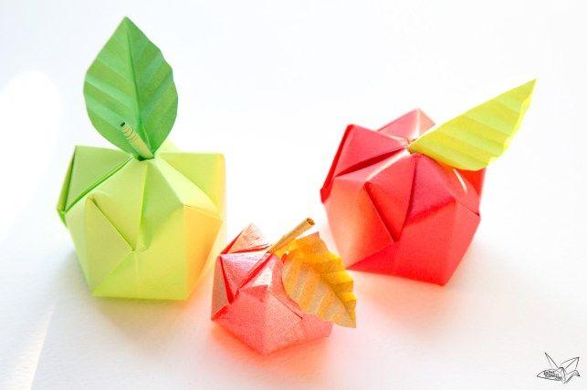3D Origami Apple & Leaf Tutorial