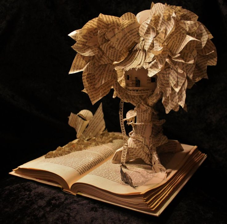 The Swiss Family Robinson Book Sculpture by wetcanvas.deviantart.com on @deviantART