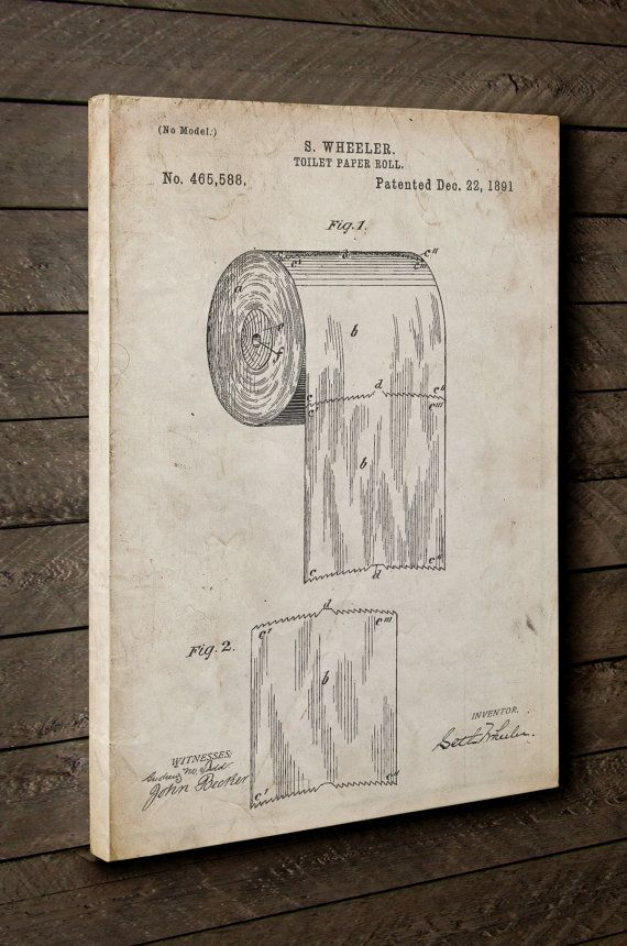 Toilet Paper Patent Canvas Art, Bathroom Canvas Art, Toilet Paper Roll Art, Restroom, Bathroom Wall Art, Canvas Wall Decor