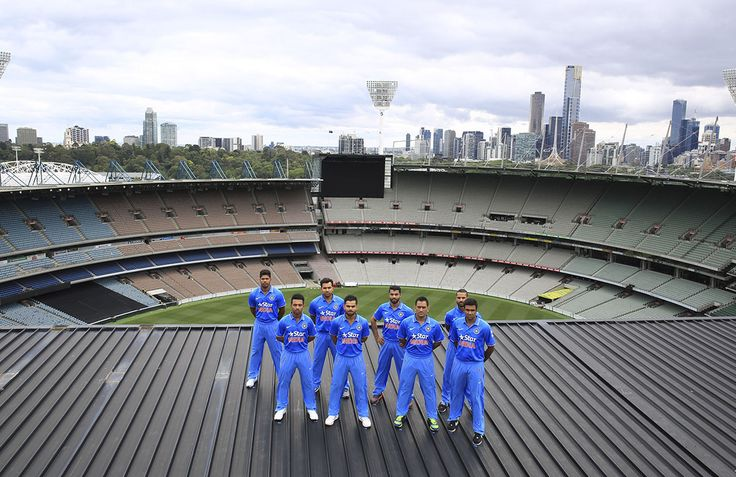 India unveil their ICC Cricket World Cup kit ahead of tri-series opener 2014 - photo by www.sdpmedia.com.au