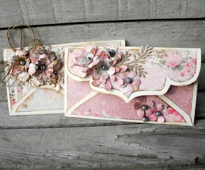 piabau: Dutch doobadooo envelope med Rose Garden