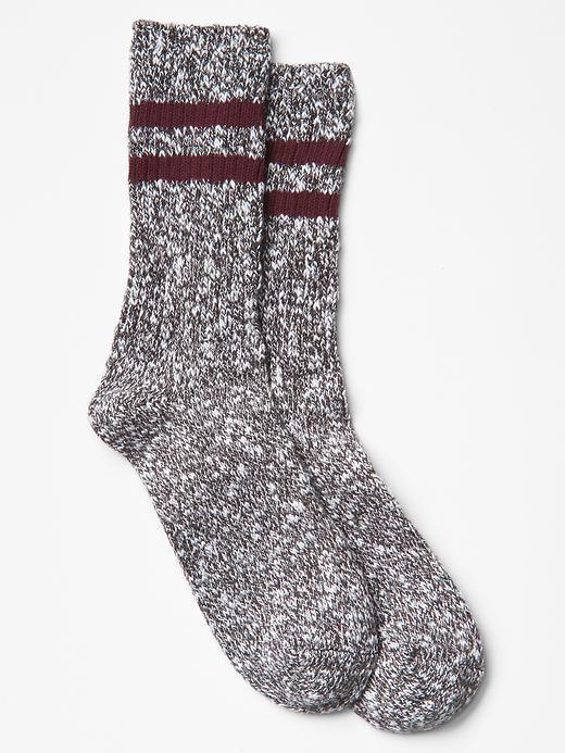 Sporty slub boot socks Product Image