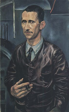 Berthold Brecht by Dix, 1926. Although this painting is not a good likeness, it is masterfully painted. It is the most widely distributed image of Brecht, so, here's to the power of painting technique. The curios thing, at least to me, it is a wonderful painting but it is not a great likeness.