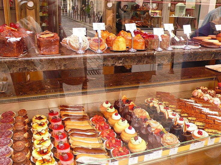 Stop by any  Pâtisserie and find an array of beautiful pastries and desserts.