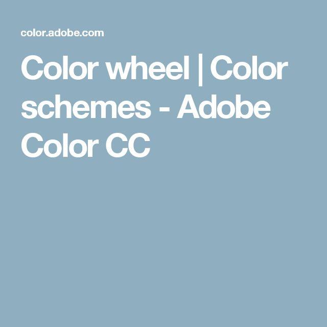 Color wheel | Color schemes - Adobe Color CC