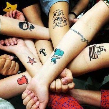Tatuagem Temporária Piratas I