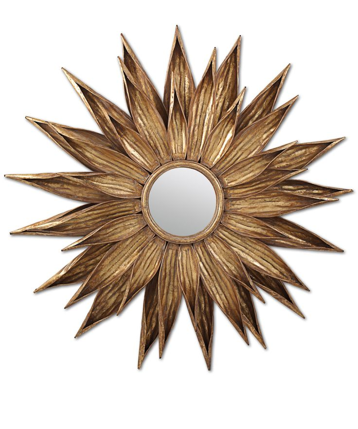 gorgeous antique sunflower motives wall mirrors with gold metal frame with mirrors on walls in living