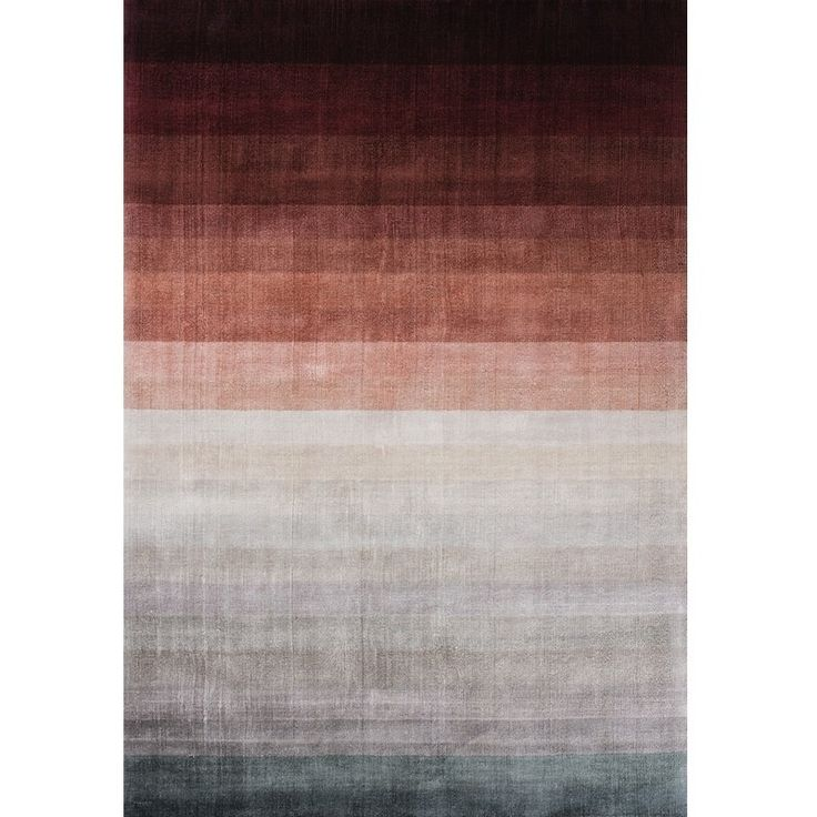 Linie Design Combination Rug in the Peach colourway is handloomed in India by skilled craftsmen. This contemporary design rug has been made very much for the modern interior and features a beautiful and subtle colour graduation, which goes from a deep peach through soft rusty peaches and browns to a soft greeny grey, altogether making a stunning rug.