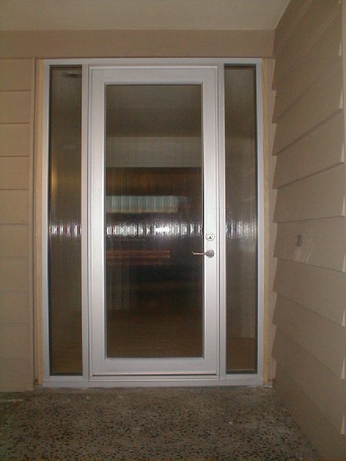 Model bp 450 single entry door w sidelites size 3 x 8 for Single glass exterior door