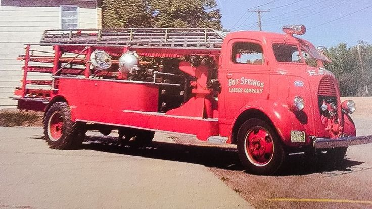 1938 Ford-Cab over engine ladder truck....