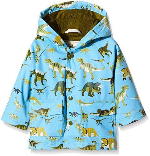 Hatley Baby - Jungen Regenmantel Infant Raincoat -Wild Dinos, Mehrfarbig (Blue), 92