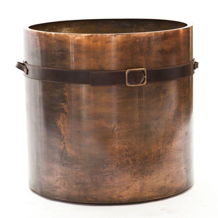 Belted Planter Antique Copper