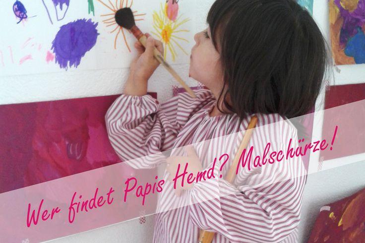 Wenn die Kleinen auf einmal gross sind und in den Kindergarten kommen, dann muss eine Malschürze her. Es ist aber auch für zu Hause praktisch! So kann ganz sorglos gemalt, gepinselt und gezeichnet werden.