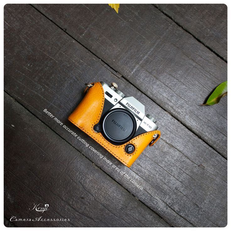 Kenjileather half case for fujifilm X-T10 crafted with italian veg tanned leather