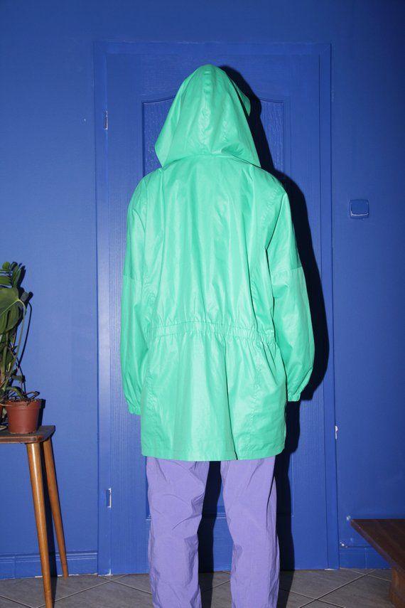 149c3e68244 90s vintage jacket vintage retro windbreaker hooded mint