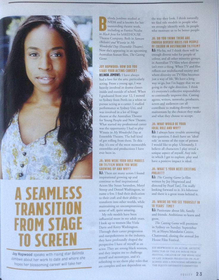 Joy's interview with Belinda Jombwe