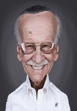 Stan Lee by robart at zippi.co.uk art | decor | wall art | inspiration | caricature | home decor | idea | humor | gifts