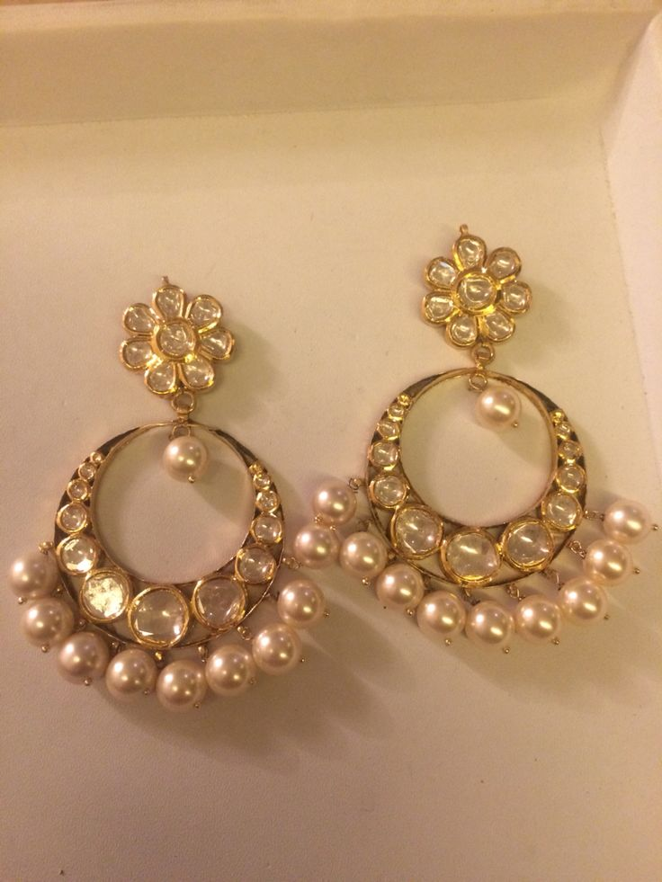 Chand Balas in gold and polki.