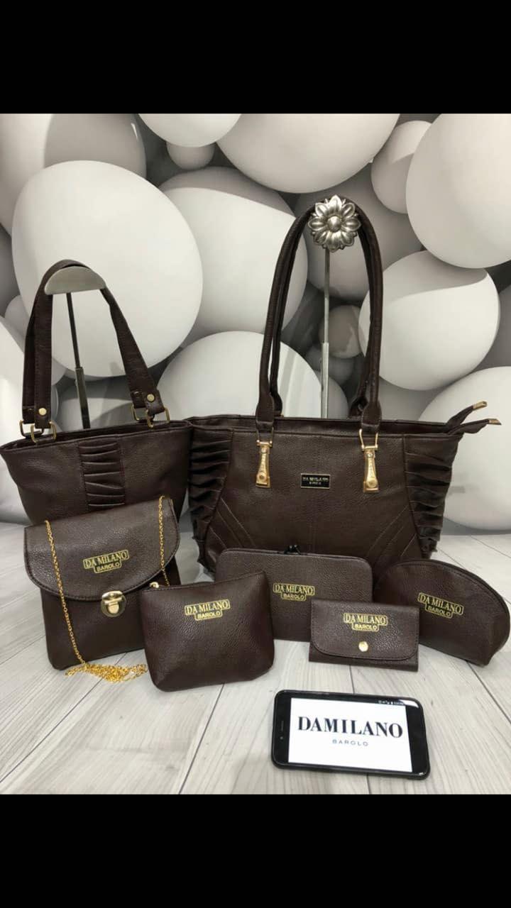 599f26447c DA MILANO 7 Purse ComBo For Ladies | Leathers | Purses, Leather, Lady