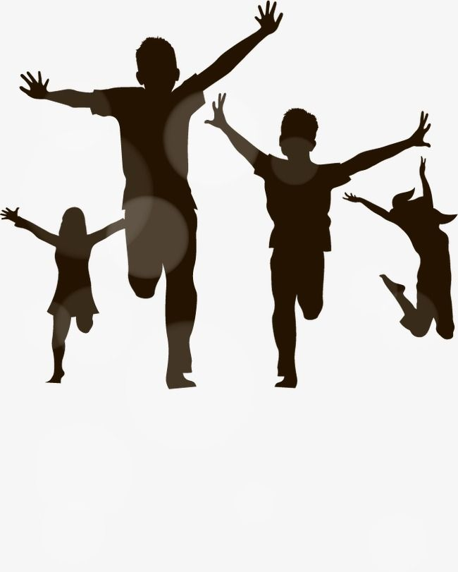 Children Playing Vector Silhouettes Children Clipart Black And White Children Play Silhouette Vector Material Png Transparent Clipart Image And Psd File For Kids Silhouette Kids Playing Silhouette Vector