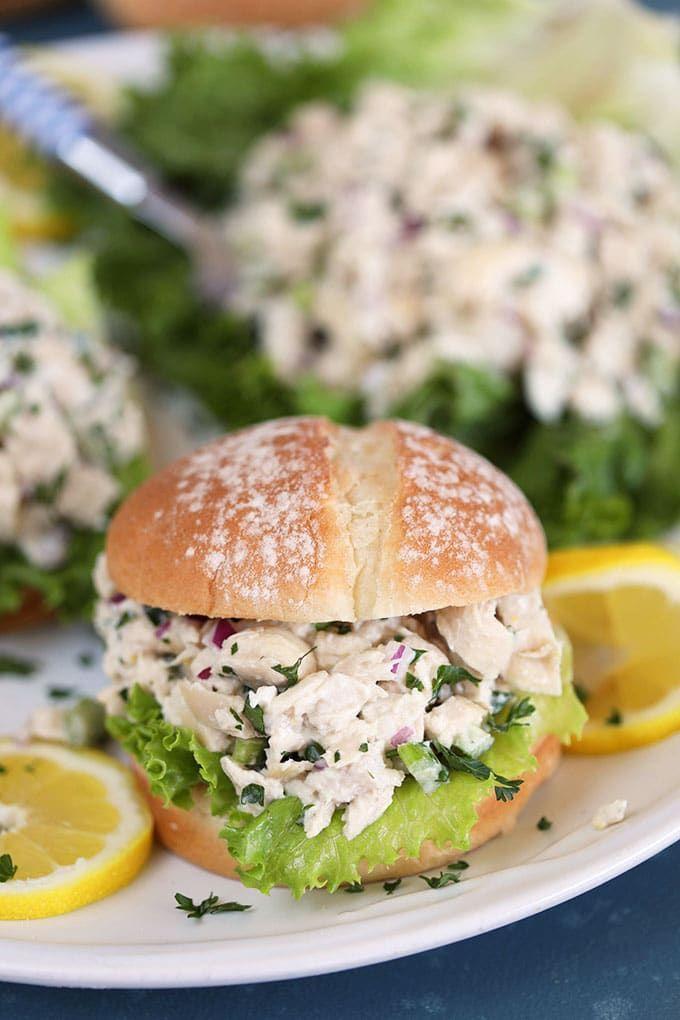 Lemon Tarragon Chicken Salad Sandwiches The Suburban Soapbox Recipe Tarragon Chicken Tarragon Chicken Salad Best Egg Salad Recipe