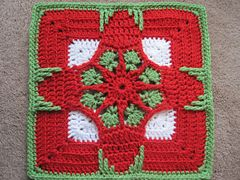 Holiday Ornament Afghan Square pattern by Julie Yeager