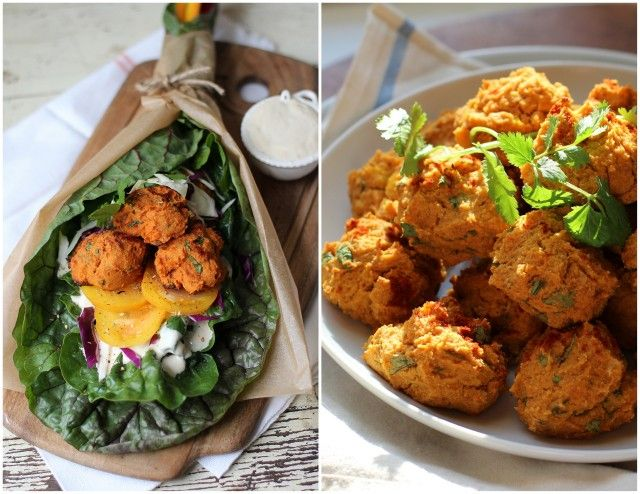 Roasted Sweet Potato Falafel With Garlic Tahini Sauce Recipe Sounds Absolutely Wonderful It S Also