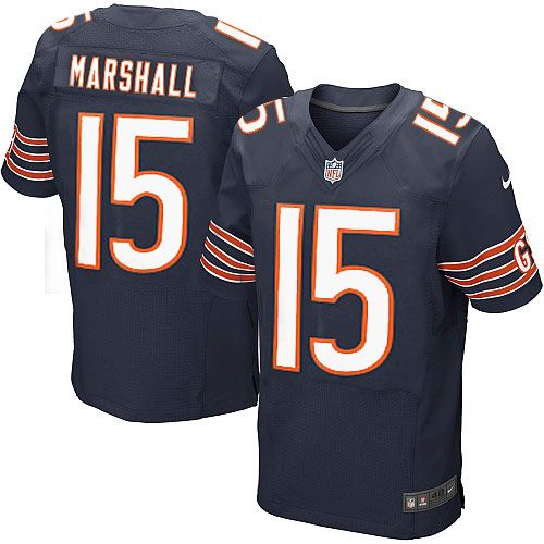 NFL Men's Elite Nike NFL Chicago Bears #15 Brandon Marshall Team Color Blue  Jersey $129.99