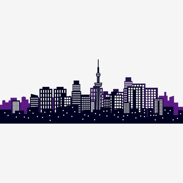 City City Silhouette Cartoon Hand Drawn City High Rise Building City Bustling Building Png And Vector With Transparent Background For Free Download City Silhouette Building Silhouette High Rise Building
