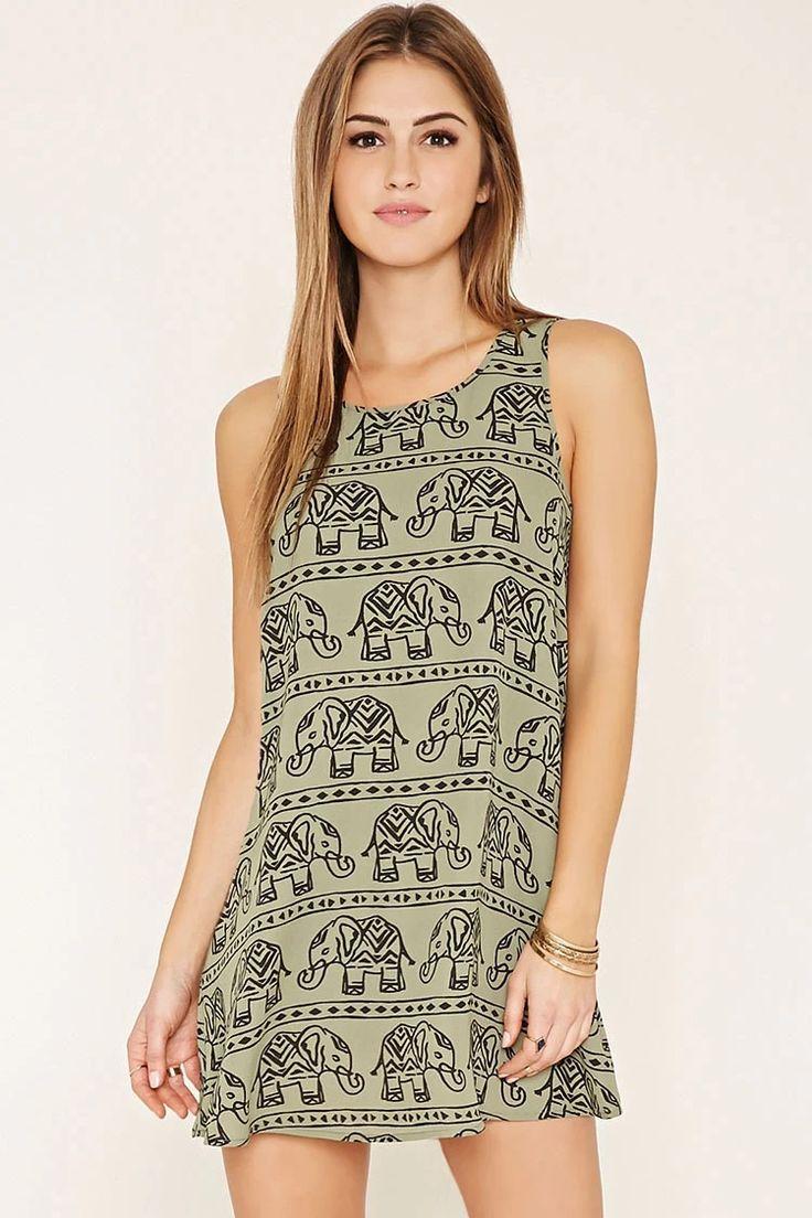 Elephant Print Mini Dress #f21xmusic