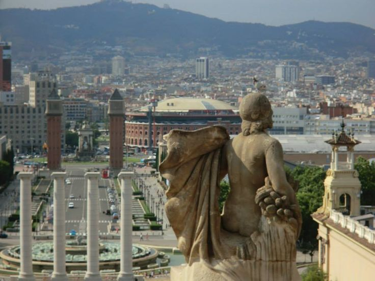 View from National Museum of Catalan — in Barcelona, Catalonia.