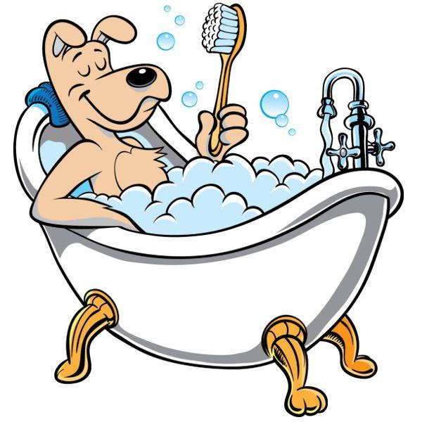 Image On dog fun art Funny Bath Cartoon Funny dog bath cartoon