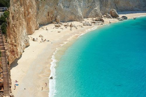 Katsiki Beach, Greece  http://www.cycladia.com/best-beaches-greece/porto-katsiki-beach/