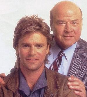 MacGyver  Like James Bond--but without the high-tech gadgets--Angus MacGyver (Richard Dean Anderson) is one of those rare beings who can avert any crisis without mussing a hair. (The rest of us should be so lucky.)