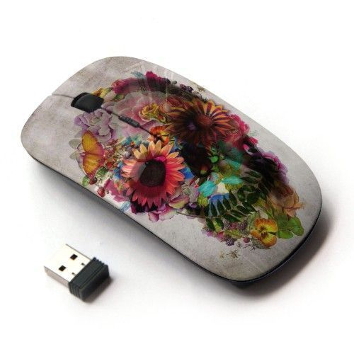 Sugar Skull Vintage Wireless Mouse Retro Laptop Accessories Gifts For Her Floral  | eBay