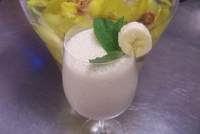 Banaani-kahvismoothie. Reseptin on luonut Kotikokki.netin nimimerkki Minna Bunce