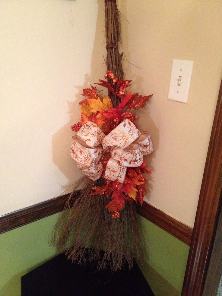 17 best images about fall deco on pinterest fall door for Straw brooms for crafts