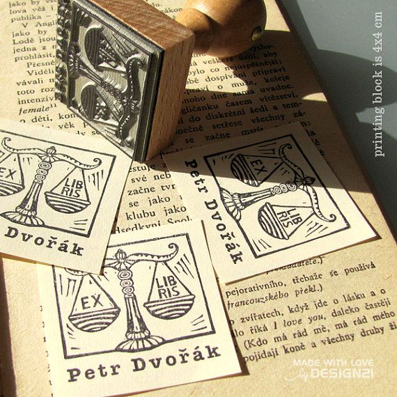 Libra: personalisated stamp 4x4 cm by lida21 on Etsy