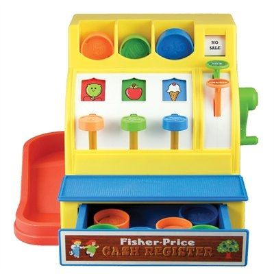 Retro fisher price cash register $25