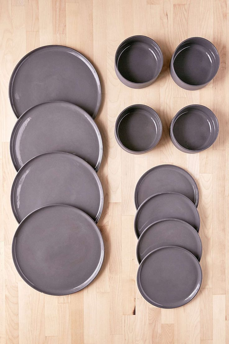 12 Piece Modern Dinnerware Set