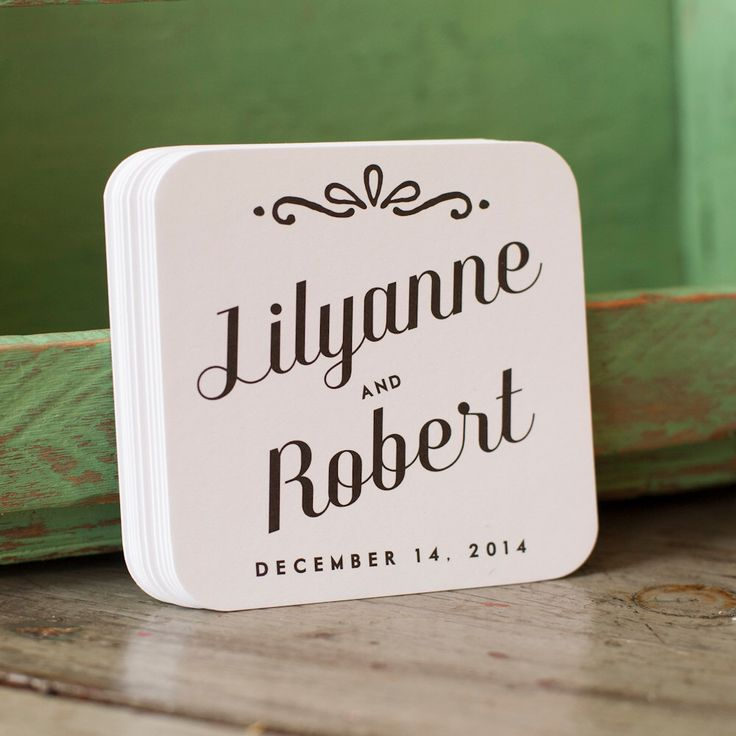 Personalized wedding coasters - wedding favors,  wedding, coasters, favors, bridal shower, bridal favors, reception, set of 50 by starboardpress on Etsy https://www.etsy.com/listing/179218547/personalized-wedding-coasters-wedding