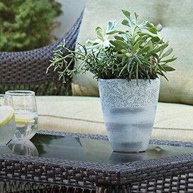 Vintage Vase Planter | Outdoor Oasis | Canadian Tire http://www.canadiantire.ca/inspiration/en/seasonal/canvas/outdoor-oasis.html #MyCANVAS