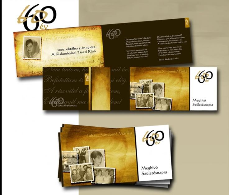 60. év meghívója
