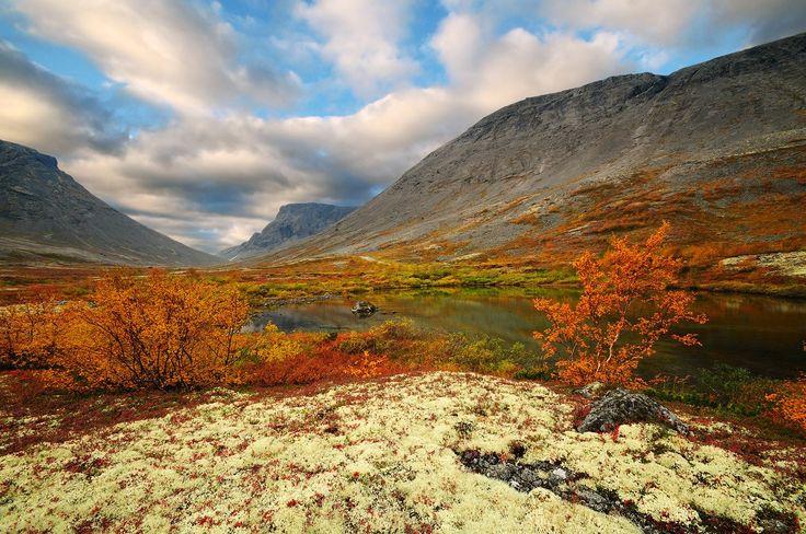 Осень в Хибинах. Кольский полуостров. Россия
